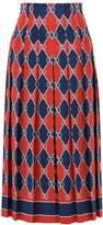 Gucci Rhombus Pleated Skirt