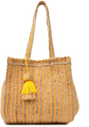 America & Beyond Sahara Marigold Stripes Tote Bag