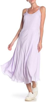 Vince Double Layer Sleeveless Midi Dress