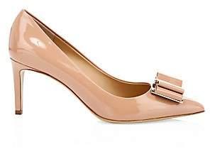 Salvatore Ferragamo Women's Zeri Point-Toe Patent Leather Pumps