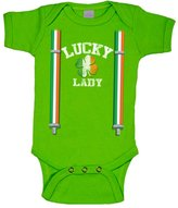 Charm City Tees St Patrick's Day Onesie Lucky Lady Baby Onesie