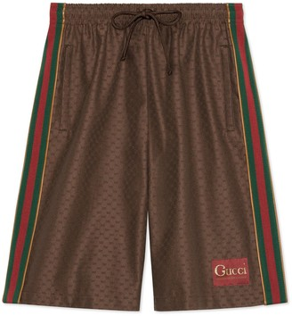 Gucci Mini GG shorts with label