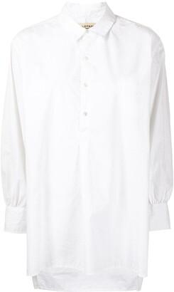 Nili Lotan Asymmetric Draped-Sleleved Shirt