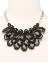 Charlotte Russe Faceted Teardrop Cluster Necklace
