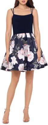 Xscape Evenings Floral Fit & Flare Dress