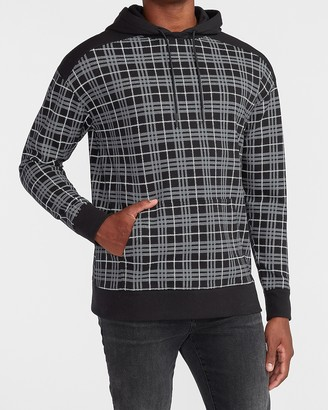 Express Plaid Double Knit Hoodie