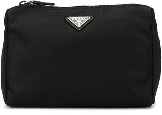 Prada Pre Owned Triangular Logo Cosmetic Bag