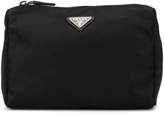 Prada Pre Owned Triangular Logo Cosmetic Bag