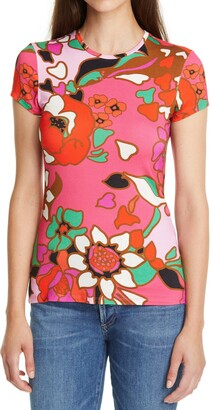 Ted Baker Bevilin Pinata Print Fitted T-Shirt