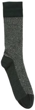 HUGO BOSS Micro Patterned Socks In Mercerized Stretch Cotton - Black