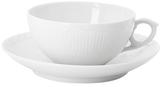 Royal Copenhagen Half Lace Teacup and Saucer Set (2 PC)