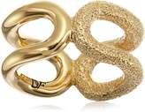 Diane von Furstenberg Sandy Links Sandblast Cut Out Ring, Size 7