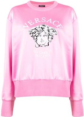Versace embroidered Medusa crew neck sweatshirt