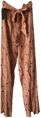 Faithfull The Brand Pink Viscose Trousers