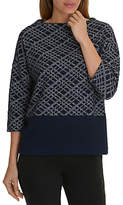 Betty Barclay Three Quarter Sleeve Jumper, Dark Blue/Cream