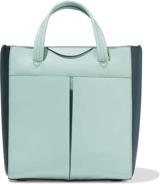 Anya Hindmarch Mini Nevis Two-tone Leather Tote