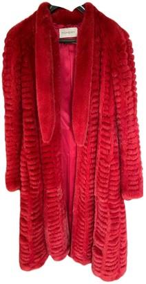 Saint Laurent Red Mink Coat for Women