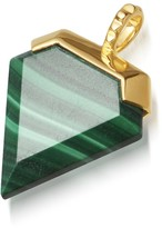 Missoma Malachite Gold Shield Pendant