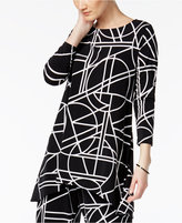 Alfani Geo-Print High-Low Tunic Top, Created for Macy's