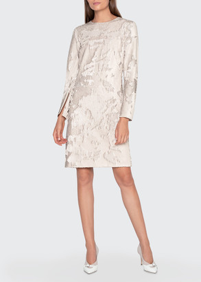 Akris Matte Sequined Cocktail Dress