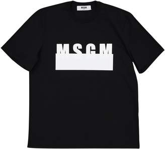MSGM Black Cotton T-shirts