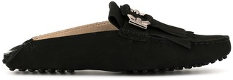 Tod's backless fringed loafers