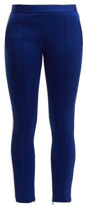Miu Miu Crystal-embellished Track Pants - Womens - Blue