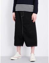 Comme Des Garcons Shirt Regular-fit Contrast Stitch Denim Shorts