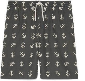 Gucci GG Psychedelic print silk shorts