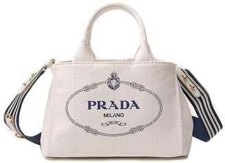 Prada Milano Logo Print Tote Bag