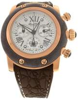 Glam Rock New Women Miami Chronograph 46mm Brown Silicone Watch