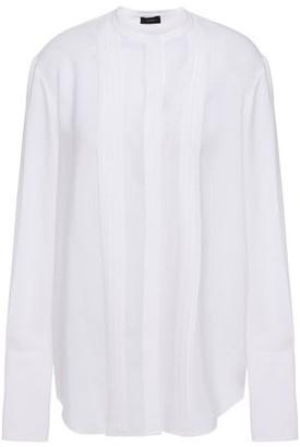 Joseph Pleated Silk-crepe Shirt