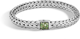 John Hardy Women's Classic Chain 7.5MM Bracelet in Sterling Silver with Chrome Tourmaline