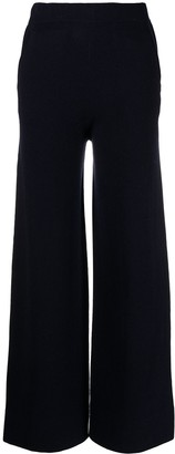 Allude High-Rise Flared Knitted Trousers