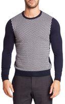 Sand Long Sleeve Herringbone Sweater