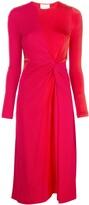 Galvan midi flared dress