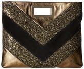 Just Cavalli Glitter and Laminated Leather Bag Handbags