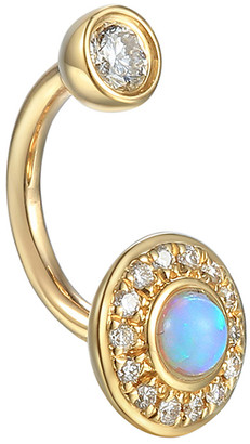 Pamela Love Australian Opal and Diamond Gravitation Rook Single Earring - Yellow Gold
