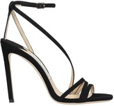 Jimmy Choo Tesca 100 Sandals In Black Suede