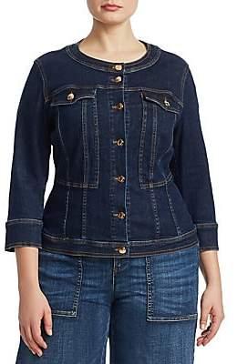 Marina Rinaldi Ashley Graham x Women's Canberra Super Stretch Denim Jacket