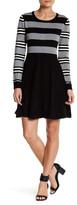 Eliza J Long Sleeve Fit & Flare Dress (Petite)