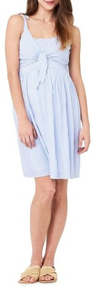 Ripe Sally Tie Front Nursing Dress Lt
