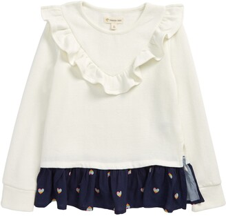 Tucker + Tate Kids' Sweet Cozy Ruffle Top
