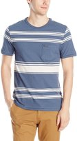 Volcom Men's Hayward Stripe Crew Shirt, Grey/Blue
