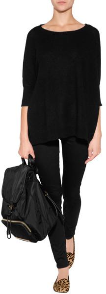 Dear Cashmere Cashmere Oversized Pullover in Black