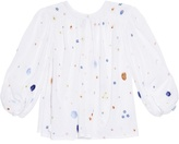 Thierry Colson Pandora Garden-embroidered shirt