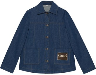 Gucci Label denim jacket