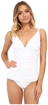 Tommy Bahama Pearl Over Shoulder V-Neck Cup One-Piece