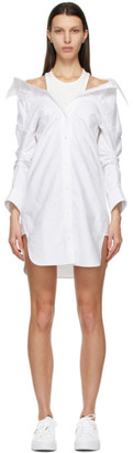 alexanderwang.t White Off-Shoulder Shirt Dress