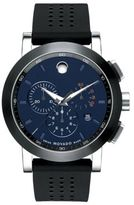 Movado Museum Chronograph Rubber Strap Watch